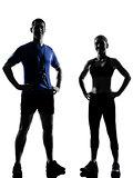couple woman man exercising workout aerobic instructor
