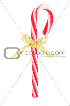Candy Cane with Bow Ribbon