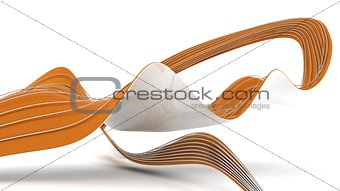 Abstract ribon background