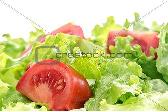 Tomato and lettuce salad