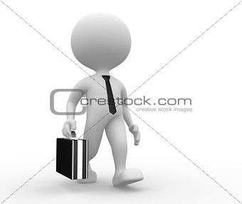 3d man with a briefcase