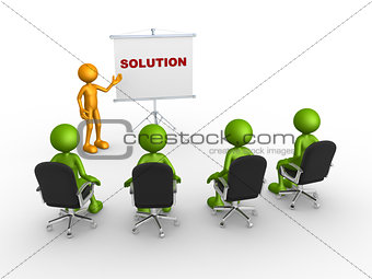 """Flip chart and word """"Solution"""""""
