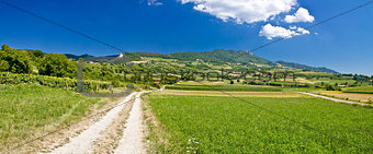 Amazing green mountain scenery in Croatia