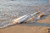 2014 New year message in a bottle