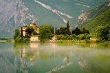 Medieval Castle on Toblino Lake, Trentino, Italy