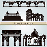 Rome landmarks and monuments
