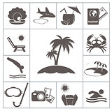 Tropic resort icons