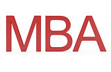 Red Word MBA - Master Of Business Administration isolated on whi