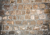 texture of old bricks stacked wall