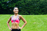 Young fit woman in the park