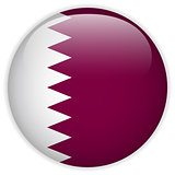 Qatar Flag Glossy Button