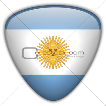 Argentina Flag Glossy Button