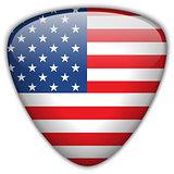 USA Flag Glossy Button