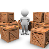 moving wooden crates