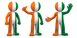 3d character textured with flag of Ivory Coast