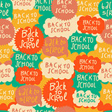 School pattern with speech bubbles, vector Eps10 illustration.
