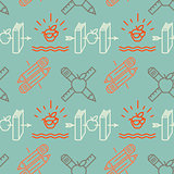 Seamless school pattern retro style, vector Eps10 illustration.