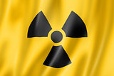 radioactive nuclear symbol flag