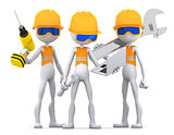 Industrial contractors workers team