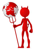 Devil hold earth globe