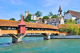 Lucerne, Switzerland. Mill bridge