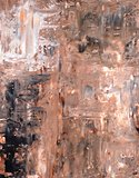 Brown and Black Abstract Art Painting