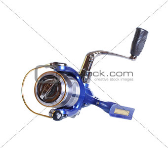 The Spinning reel for fishing isolated