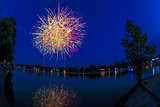 Fireworks on the river Ticino, Sesto Calende - Varese