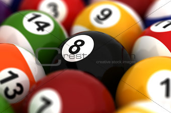 Billiard Ball Closeup