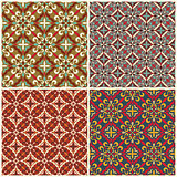 Set of traditional seamless patterns.