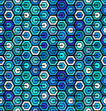 Seamless geometric pattern with hexagons.