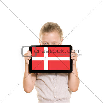 Girl holding tablet pc