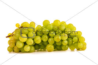 beautiful ripe green grapes