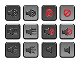 Volume icons set