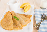 banana pancake or crepe