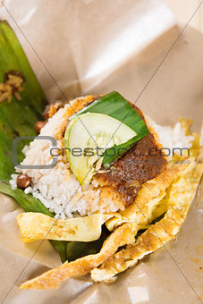 A pack of nasi lemak