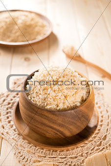 Fresh cooked India organic basmati brown rice