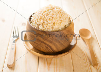 India cooked organic basmati brown rice