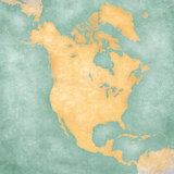 "Map of North America -€"" Blank Map (Vintage Series)"