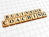 business coaching in golden cubes