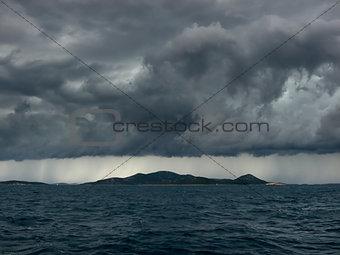 Storm over islands