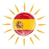 Spanish flag in sun