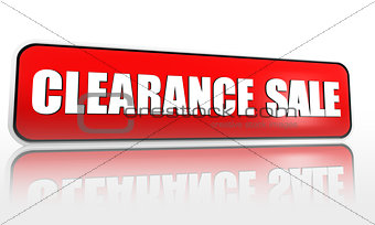 clearance sale red banner