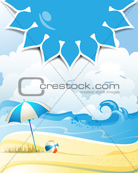 Background over summer beach