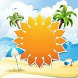 Background over summer beach