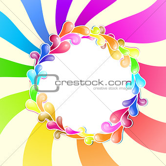 Frame with jelly shapes