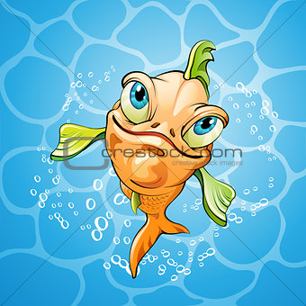 Cartoon fish smiling