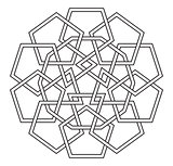 Vector Celtic knot  made of Pentagons