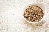 dry hemp seeds