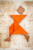 tangram dancer figure